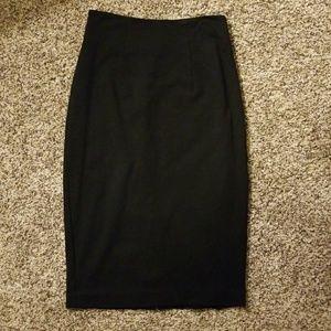 Halogen Black Pencil Skirt, Size 0